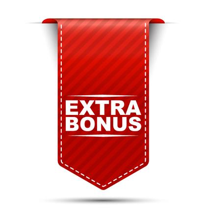 extra: extra bonus, red vector extra bonus, banner extra bonus