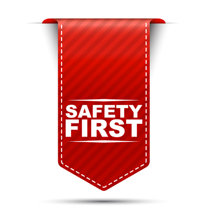 safety first: safety first, red vector safety first, banner safety first