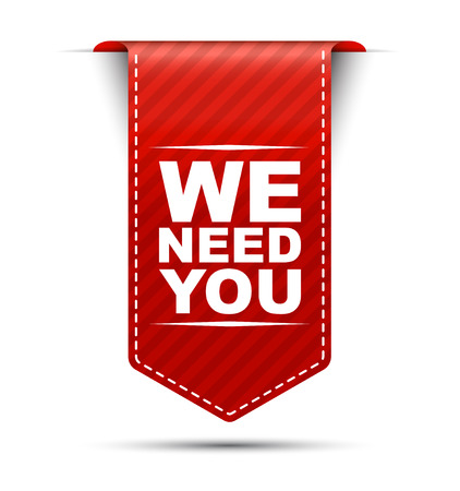 we need you, red vector we need you, banner we need you