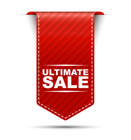 ultimate: ultimate sale, red vector ultimate sale, banner ultimate sale