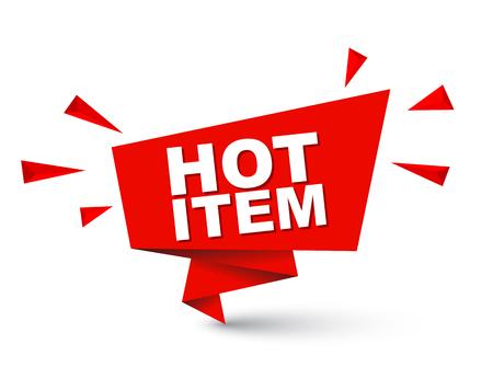 Rode gemakkelijk vector illustratie geïsoleerde papier bubbel banner hot item. Dit element is goed aangepast voor webdesign.