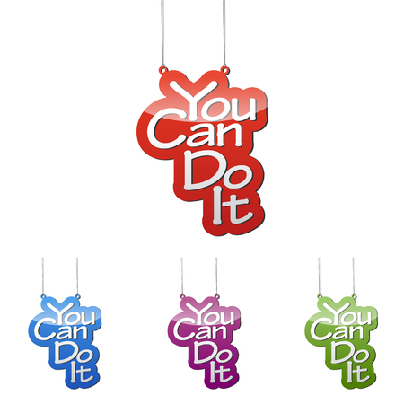 Set vector illustrations isolated tag banner you can do it in four color variant red, blue, purple and green. This element is wel adapted for web design.
