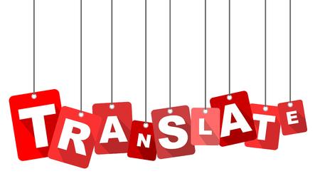Rode vector platte ontwerp achtergrond vertalen. Het is goed aangepast voor webdesign.