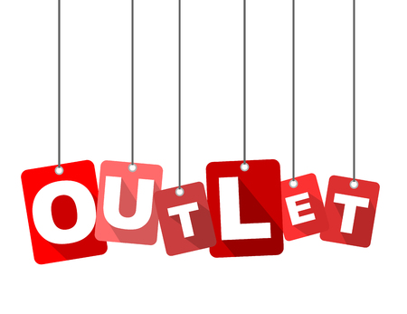 Red vector flat design background outlet. It is well adapted for web design. Stock fotó - 78772117
