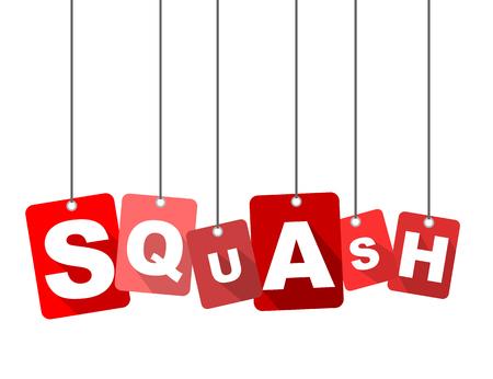 Red flat design squash.