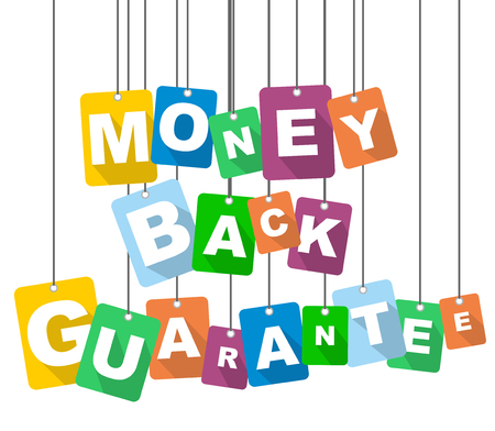 seal of approval: vector illustration background money back guarantee