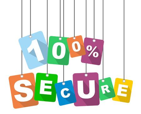 trusted: vector illustration background 100% secure Illustration