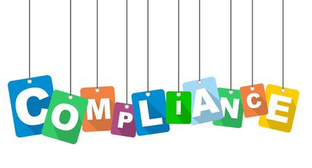 vector illustratie achtergrond compliance