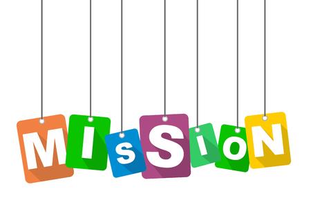 vector illustration background mission