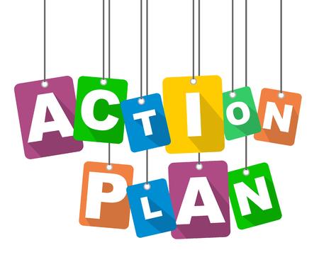 vector illustration background action plan