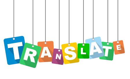 ilustración vectorial fondo traducir Ilustración de vector