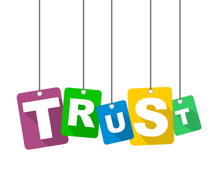 trusted: vector illustration background trust Illustration