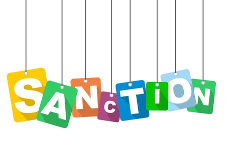 vector illustration background sanction