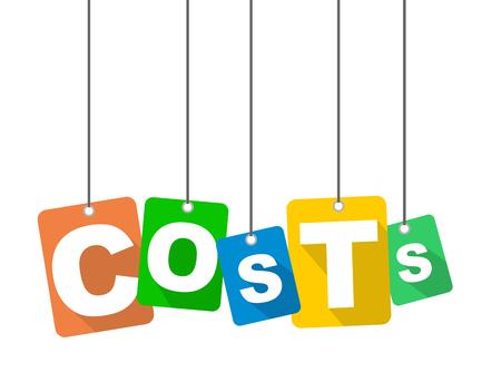 Costi di sfondo colorato design piatto vettoriale. È ben adattato per il web design.