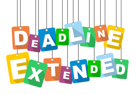 Colorful vector flat design background deadline extended.