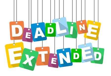 Colorful vector flat design background deadline extended.