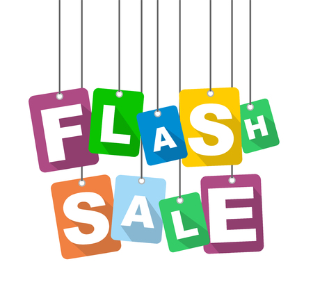 Colorful vector flat design background flash sale. It is well adapted for web design.