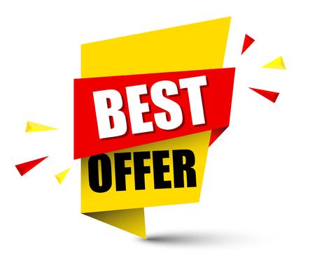 Banner best offer design. Illustration
