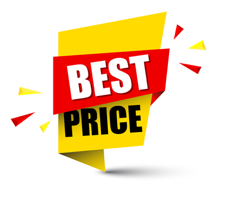 Banner best price design. Illustration