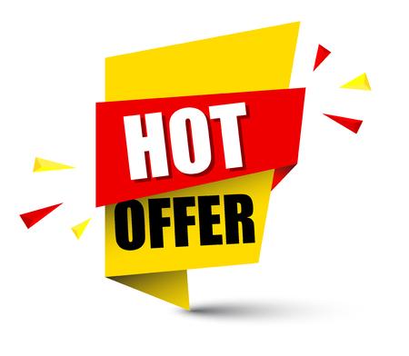Banner hot offer illustration design.