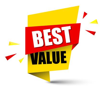 Banner best value illustration design.