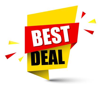 Banner best deal illustration design. Vector Illustration