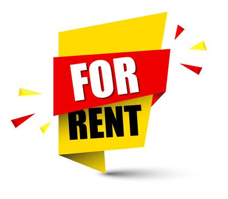 Banner for rent illustration design. 일러스트