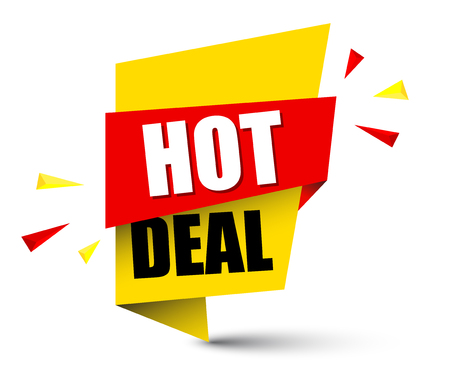 Banner hot deal illustration design.