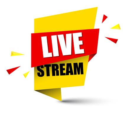 Banner live stream illustration design.  イラスト・ベクター素材