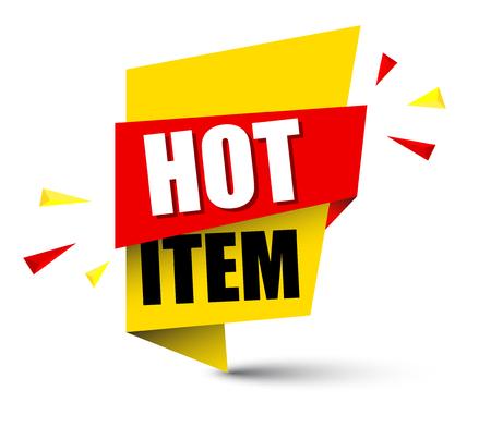 banner hot item Vector illustration.