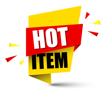 banner hot item Vector illustration.