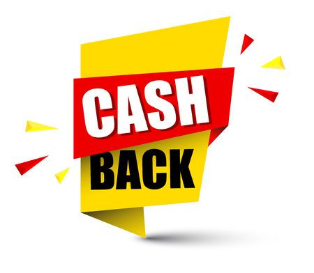 banner cash back Vector illustration. Vettoriali