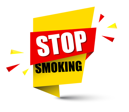 banner stop smoking Vector illustration.