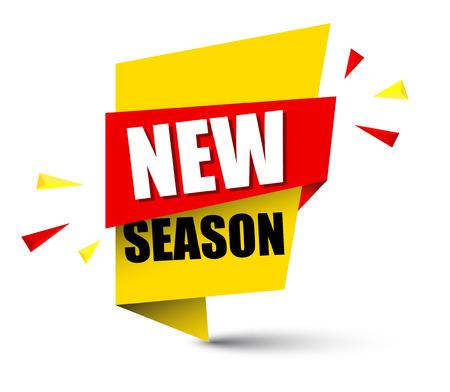 Banner new season illustration