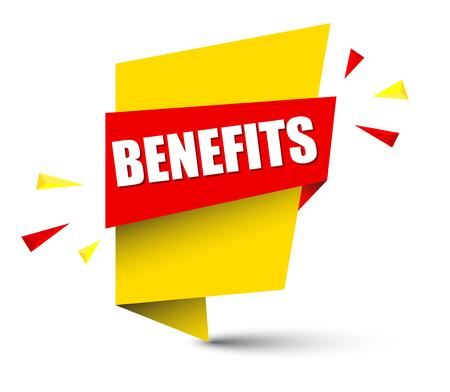 Banner benefits illustration 矢量图像