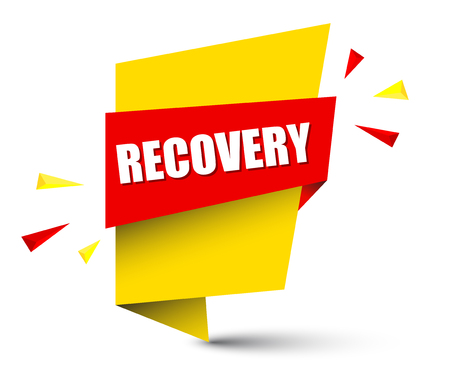 recovery banner in yellow and orange, Vector illustration. Illustration