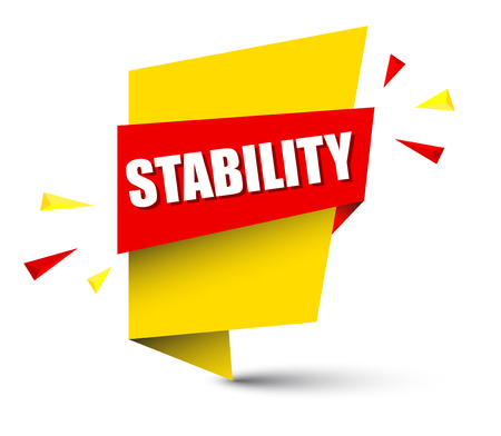 stability banner in yellow and orange, Vector illustration. Illustration
