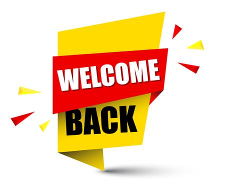 banner welcome back Illustration