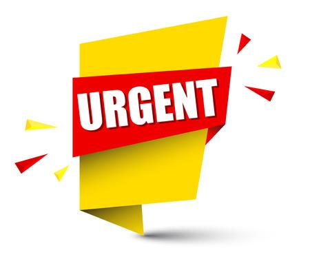 banner urgent Illustration