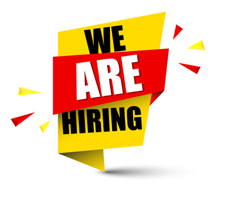 banner we are hiring Vectores