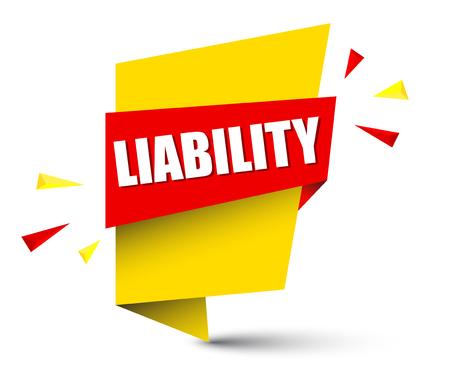 banner liability Illustration