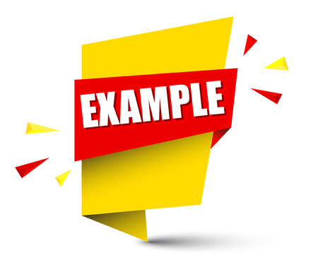 banner voorbeeld afbeelding ontwerp. Vector Illustratie