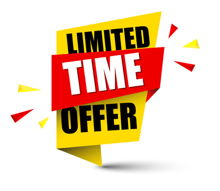 banner limited time offer illustration design. Çizim