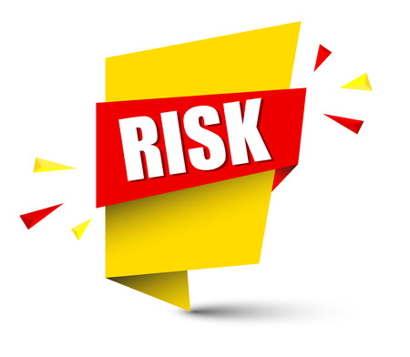 Banner risk icon illustration on white background.