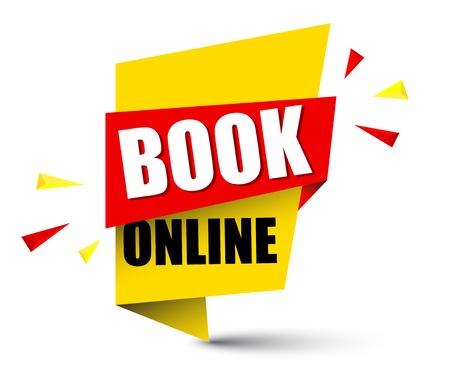 Banner book online icon illustration on white background.