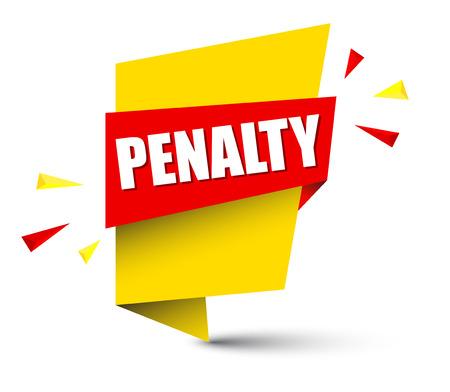 banner penalty Vector illustration.