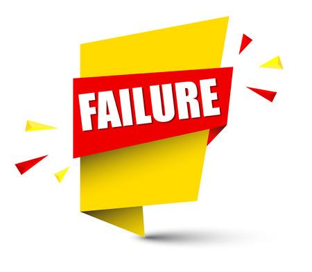 banner failure Vector illustration. Illustration