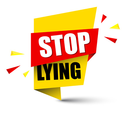 Banner stop lying icon illustration on white background.