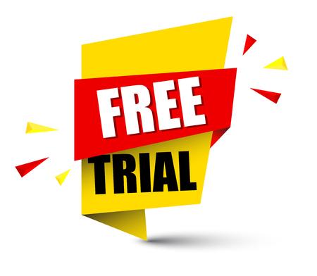 Banner free trial  イラスト・ベクター素材
