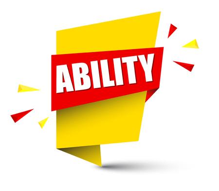 Banner ability icon illustration on white background.